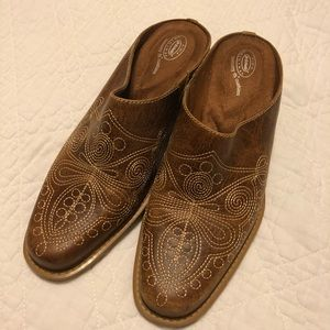 Dr. Scholls round up western leather mule Sz 7